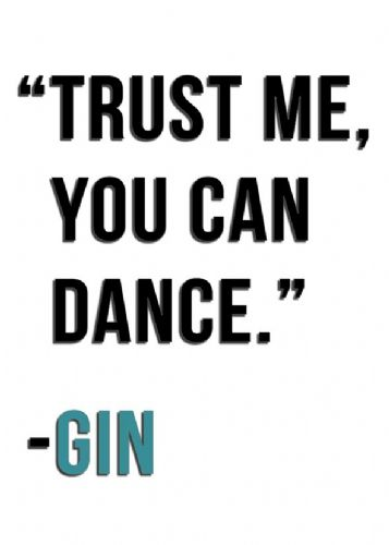 ART - TRUST ME GIN - BLUE canvas print - self adhesive poster - photo print